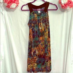 Multi-Colored Causal Dress